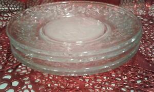 Set <4> Princess House Fantasia Crystal 8in Salad / Lunchen plates FREE SHIP