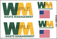 PEEL STICK HO SCALE CUSTOM TRUCK CONTAINER WASTE MANAGEMENT DECAL SET HOWM100