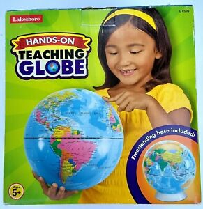 Hands-On Teaching Globe w/Stand Lakeshore 10 Inches High Geography Classroom