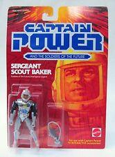 1987 Captain Power SGT SCOUT BAKER action figure Mattel mint factory sealed card