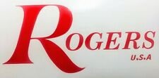 Rogers Usa Drums, Vinyl logo 7'' Red logo sticker decal for bass drum