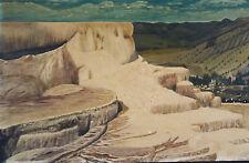PAMUKKALE originale vecchio Dipinti a olio mostra Terrazze di sinterizzazione im
