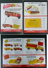 Rare Vtg 1947 Dealer Ad Courtland Fire Moving Ice Cream Truck + Wind-Up Tin Toy