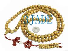 "44"" Tibetan Natural Sandalwood 108 Prayer Beads Mala Mantra Meditation Buddhist"