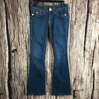 True Religion Joey Big T Twisted Seam Flare Jeans Flap Pocket Size 26 X 32