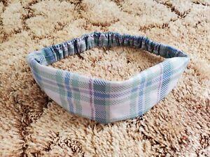 NEW Norwex Microfiber Sweat-Wicking Headband In Grey Plaid