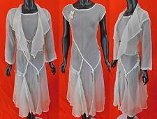 New listing Vintage 1930s Style White Organdy Handkerchief Hem Skirt Bias Cut Dress & Jacket