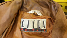 Linea Privata Womens Medium Leather Jacket Vintage 80s Funky Goldbergs Patchwork