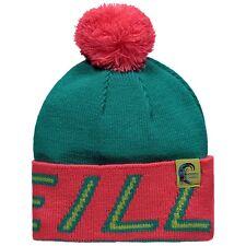 O'Neill Mens Beanie.big Knitted Pink/green Bobble Pompom Ski Hat 8w 12 6047
