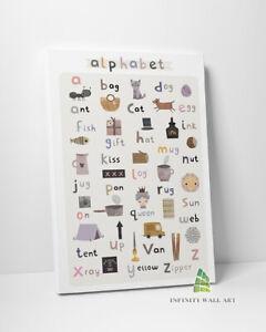 Nursery Alphabet ABC Canvas Art Children Kids Print Wall Art Picture --C721