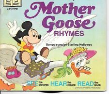 Walt Disney Book & Record #312 - Mother Goose Rhymes - 1979 book w/33 Rpm record