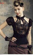 Rq-Bl steampunk blouse sz L