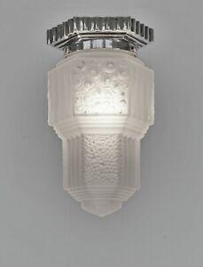 HUBENS & MULLER : FRENCH 1930 ART DECO FLUSH MOUNT .... chandelier  lamp pendant