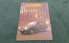 Abril 1981 CITROEN VISA II Folleto de carpeta de Reino Unido-club especial súper e Super X