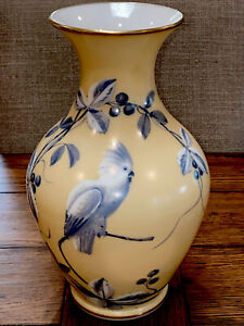 """Antique Baccarat French Opaline Glass Vase 11.75""""(29.9cm) Tall 19th C. Parrot"""