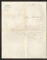 """PARIS (I°) COMMERCE DE VETEMENTS """"AU LOUVRE / CHAUCHARD , HERIOT & Cie"""" en 1862"""