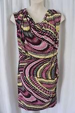 "Alfani Woman Dress Sz 24W Multi Color ""Inpost"" Sleeveless Casual Party Blouson"
