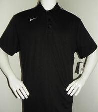 NEW Nike Golf Tennis Dri FIT Mens Classic Polo Shirt Lightweight Black Large
