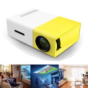 Mini Portable LED Projector 1080P HD Home Cinema Theatre System PC Laptop Phone