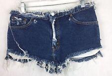 "Levi's 31"" Waist Cut Off Daisy Duke Stretch Distressed Mini Short Shorts  h"