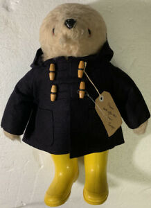 "1980 Gabrielle Designs Darkest Peru 20"" Paddington Bear Rare Navy Hoodie Version"
