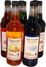 8 x 750 ml snow cone, shaved ice syrup mix bottles