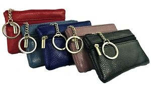 PU LEATHER PURSE wallet 3 zip card slots RFID coin section Ladies Womens NEW Bag