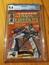 *BRAND NEW* Transformers #3 (1985) CGC 9.4 Spider-Man Black Suit - Marvel Comics