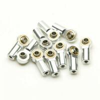 10 Stück Kugelkopf Kugelgelenk Aluminium M3 Silber Für 1/10 Crawler RC Modellbau