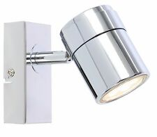 Single Wall Mount or Ceiling GU10 Spotlight Lights Chrome Satin Black or White