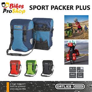 ORTLIEB Sport Packer PLUS (Pair) - Bike Panniers Bags WATERPROOF GERMANY 2021