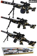 Bambini Soldato Dell'esercito Ragazzi giocano Toy Machine Sniper Gun LUCI SUONO vibrazione + PORTATA