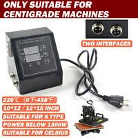 US Plug Digital Dual Display Heat Press Control Box For Heat Press Machine 110v