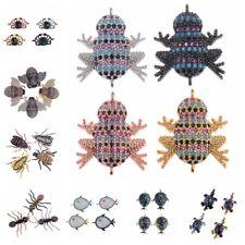 Zircon Micro Pave Fish Crab Frog Connector Charm Beads Bracelet Pendant Necklace
