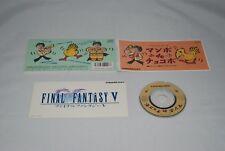CD Final Fantasy 5 Manbo de Chocobo w/ sticker Japan FF5 Nobuo Uematsu