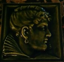 "AEC Isaac Broome Tile ""Woman in 17th century costume"""