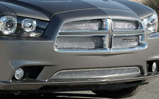 5PC CHROME FINE MESH GRILLE GRILL E&G FITS 2011 2012 2013 2014 DODGE CHARGER