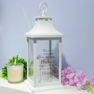 Thoughts of You Battery Operated 'Heaven' Quote Lantern