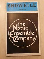 SHOWBILL THE NEGRO ENSEMBLE COMPANY SAMUEL L JACKSON MICHELE SHAY