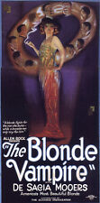 THE BLONDE VAMPIRE Movie POSTER 14x36 Insert De Sacia Mooers Joseph W. Smiley