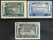 Corpo Polacco 1954 Governo di Londra S3 n. 7/9 (m767)