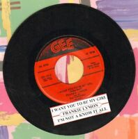 Lymon, Frankie & The Teenagers I Want You To Be My Girl Vinyl 45 rpm record
