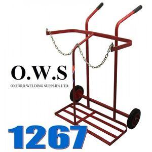 Gas Portable Welding Trolley 1267 Bottle Welder 2 Cylinder Twin Oxygen Acetylene