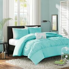 4-piece Blue Comforter Set Full-Queen Size Hypoallergenic Kids Teen Bedding