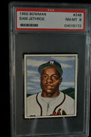 1950 Bowman - #248 - Sam Jethroe - PSA 8 - NM-MT