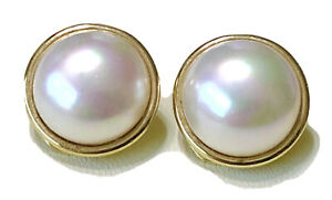 MAJORICA 18K Gold Over Sterling Faux Pearl Clip On Earrings