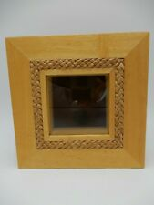 Bamboo Wood Shadow Box Frame Display Case 6 1/4 X 6 1/4 X 2