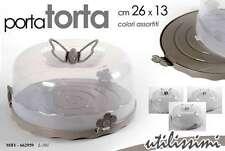 PORTA TORTA IN PLASTICA CON COPERCHIO 26*13 CM COLORI ASSORTITI MBY-662959