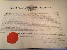 USA Citizenship Document - 1888 - Phila., PA Common Pleas Court - Seal - P1785