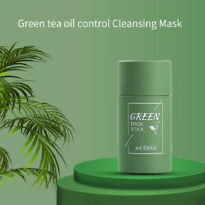 Green Tea Eggplant Purifying Clay Stick Mask Oil Control Anti-Acne Fine Solid US